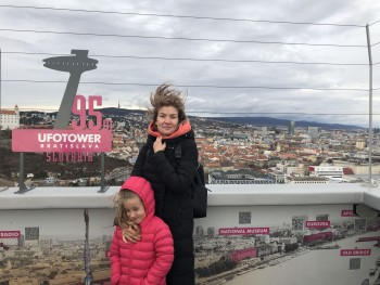 My family at the UFOTOWER Bratislava