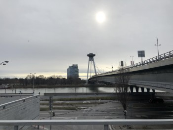 Photo near UFO bridge in Bratislava