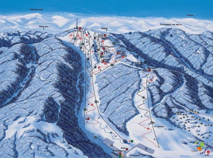 Slovak ski resorts and ski slopes